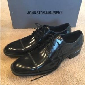 Johnston and Murphy black dress shoes